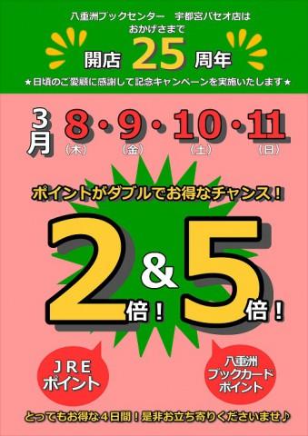 宇都宮店25周年ポスター【ポイントのみ】
